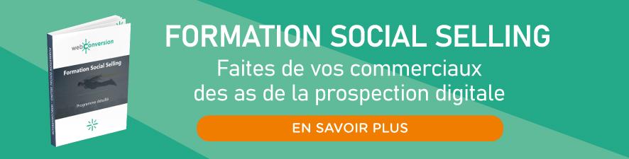 Formation social selling webconversion prospection digitale