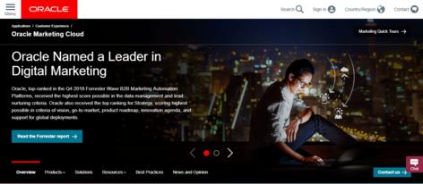 Outil de marketing automation - Oracle Eloqua