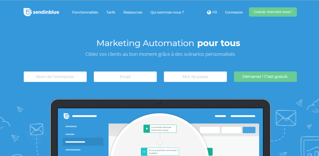 marketing automation - send in blue