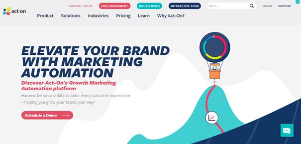 Marketing automation - Page d'accueil ActOn