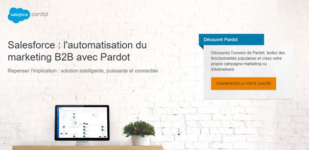 Marketing automation - Page d'accueil Pardot