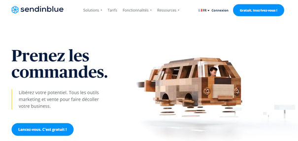 Marketing automation - Page d'accueil SendinBlue