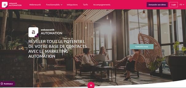 Marketing automation - Page d'accueil Webmecanik